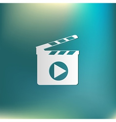 Slate board symbol of cinema vector