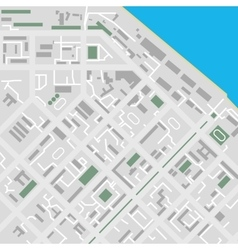 Flat city map unmarked vector