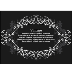 vintage floral frame vector image