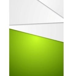 Abstract geometric green art design flyer vector image