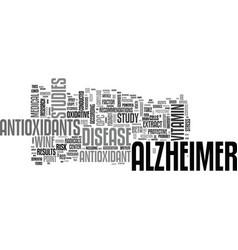 Alzheimer care text word cloud concept vector