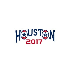 American football houston 2017 word retro vector