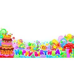 Birthday horizontal composition vector image