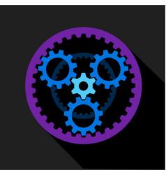 Clockwork icon flat style vector
