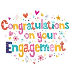 Congratulations on your engagement card vector