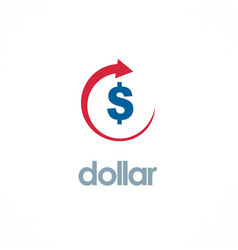 Dollar up business logo vector
