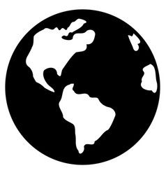 Earth flat icon vector