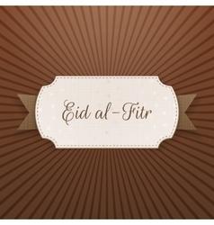 Eid al-fitr festive decorative label vector