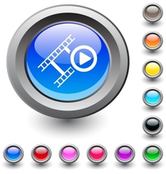 Film round button vector image vector image