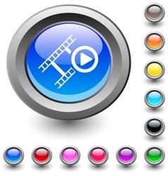 Film round button vector image