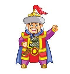 Genghis khan chibi cartoon vector