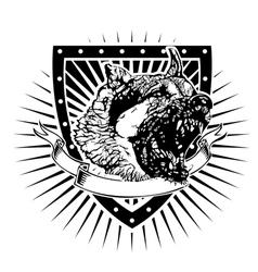 german shapherd shield vector image