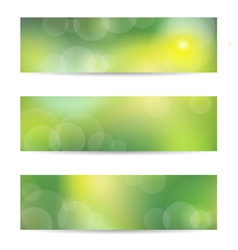 Green banner set vector image vector image