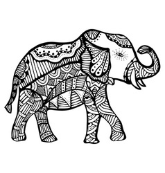 Hand drawn elephant vector image vector image