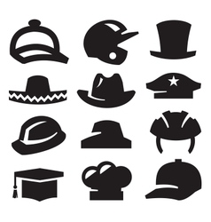 hat icons vector image