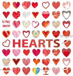 hearts icons vector image vector image
