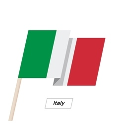 Italy Ribbon Waving Flag Isolated on White vector image
