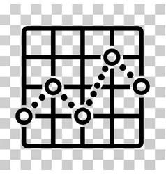 Line plot icon vector