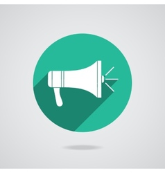 Megaphone icon Loudspeaker isolated vector image vector image