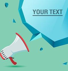 Megaphone voice advertise text bubble vector