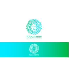 natural woman logo vector image vector image