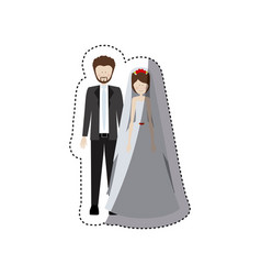 people married couple icon vector image vector image