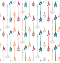 seamless pattern of vintage arrow hand drawn vector image