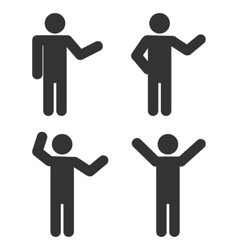 Stick figure positions set vector image vector image