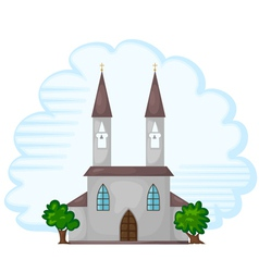 Temple Church Background vector image vector image