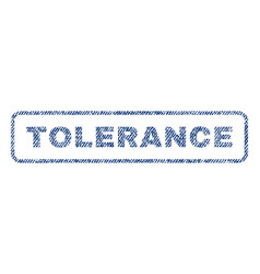 tolerance textile stamp vector image