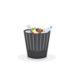 trash bin garbage container and trash bin recycle vector image