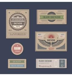 Vintage Labels denim typography t-shirt vector image