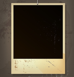 Old picture frame vector