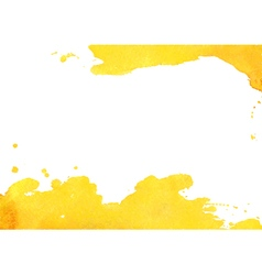 Background with yellow watercolor spot vector image