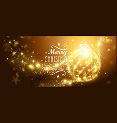 Christmas gold ball vector