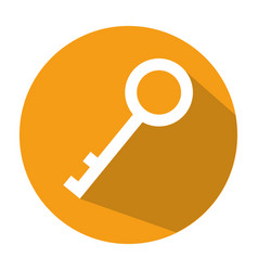 Antique door key icon vector