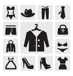 Clothing icon vector