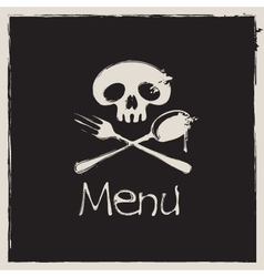 Jolly roger menu vector