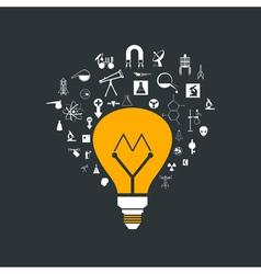 Yellow bulb vector image