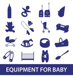 Equipment for baby icon set eps10 vector