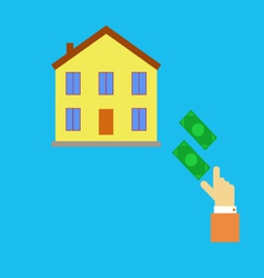 Buying real estate vector