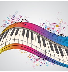 Music bright background with piano vector