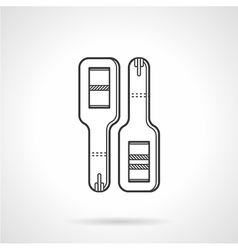 Black line icon for pregnancy tests vector