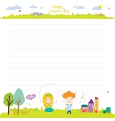 School design for notebook diary organizers vector