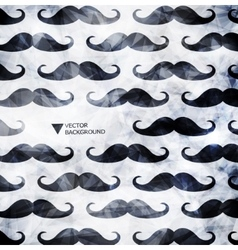 Mustache background in modern style vector