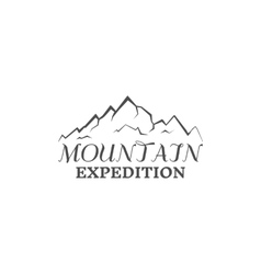 Mountain expedition badge outdoors logo emblem vector