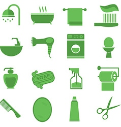 Bathroom icon set vector