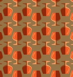 Pop art cognac glass seamless pattern vector