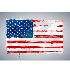 Grunge USA national flag vector image