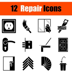 Set of flat repair icons vector
